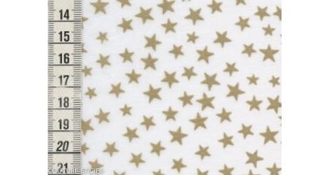 Batiste blanche étoiles dorées dans Tissus Etoiles par Couture et Cie