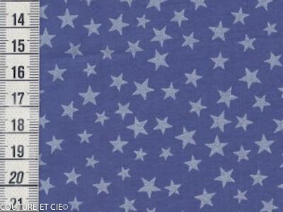 Batiste bleue étoiles nacrées