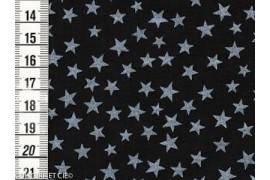 Batiste noire étoiles nacrées