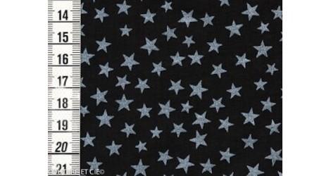 Batiste noire étoiles nacrées dans Tissus Etoiles par Couture et Cie