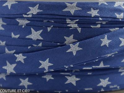Biais bleu étoiles nacrées