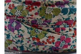 Biais Clarisse rose et vert