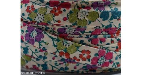 Biais Clarisse rose et vert dans BIAIS par Couture et Cie
