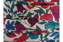 Biais Poppy & Daisy bleu canard