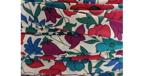 Biais Poppy & Daisy bleu canard dans BIAIS par Couture et Cie