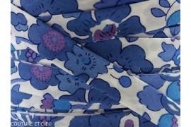 Biais Liberty Betsy bleu lavande, morceau 120cm