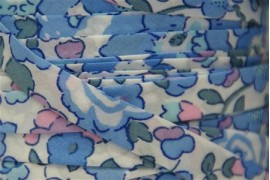 Biais Liberty Betsy bleu et rose, x10cm