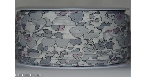 Biais Betsy gris argent x10cm dans Accueil par Couture et Cie