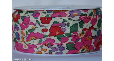 Biais Liberty Betsy rose, x10cm dans BIAIS par Couture et Cie