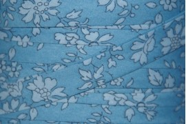 Biais Liberty Capel bleu jean, x10cm