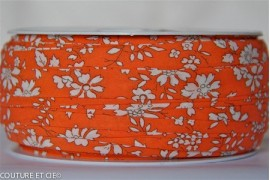 Biais Capel orange fluo, x10cm