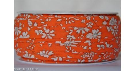 Biais Capel orange fluo, x10cm dans BIAIS par Couture et Cie