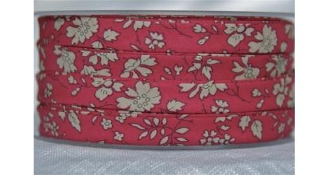Biais Liberty Capel rouge, x10cm dans BIAIS par Couture et Cie
