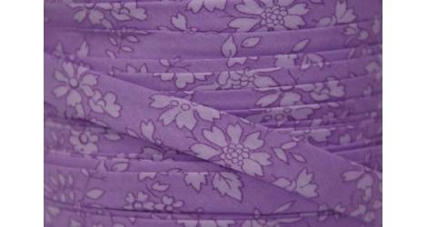 Biais Liberty Capel violet ton sur ton, x10cm dans BIAIS par Couture et Cie