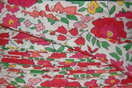 Biais Liberty d'Anjo rose et vert