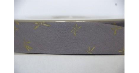 Biais gris libellules dorées dans Biais France Duval Stalla par Couture et Cie