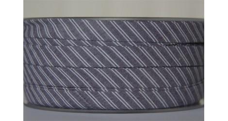 Biais gris rayé blanc dans Biais carreaux par Couture et Cie