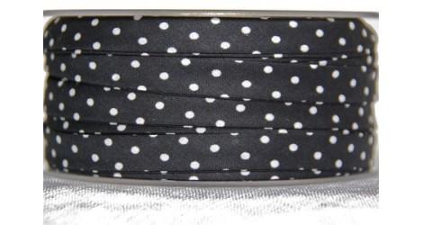 Biais noir à pois dans Tous les biais par Couture et Cie