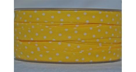 Biais jaune soleil à pois dans Tous les biais par Couture et Cie