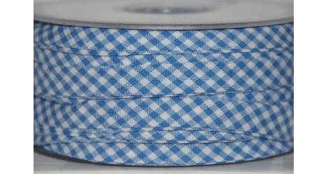 Biais Saint-Tropez bleuet dans Biais carreaux par Couture et Cie