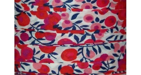 Biais Liberty Wiltshire rouge fond blanc dans Biais Liberty par Couture et Cie