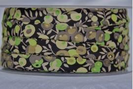 Biais Wiltshire noir et vert x10cm