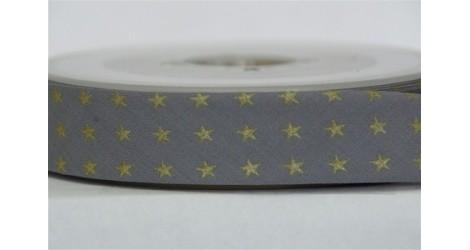 Biais gris étoiles dorées dans Biais France Duval Stalla par Couture et Cie