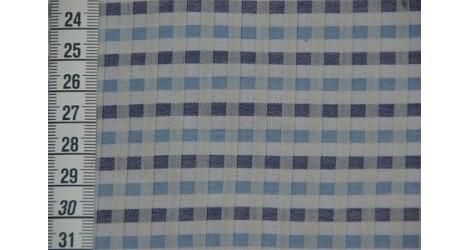 Tissu P'tits carreaux bleus dans TISSUS BIOLOGIQUES par Couture et Cie