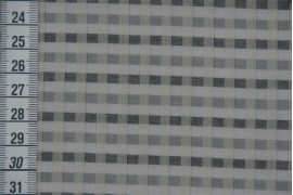 Tissu bio P'tits carreaux gris