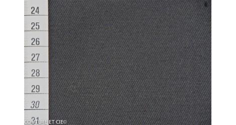 Gabardine noire dans TISSUS BIOLOGIQUES par Couture et Cie