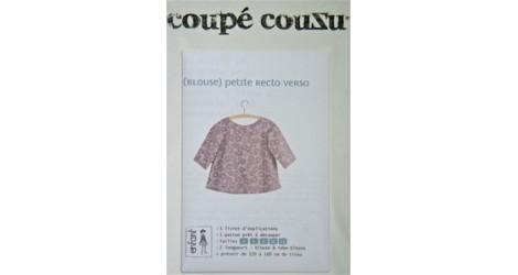 Blouse Petite recto verso dans Patrons pochettes par Couture et Cie
