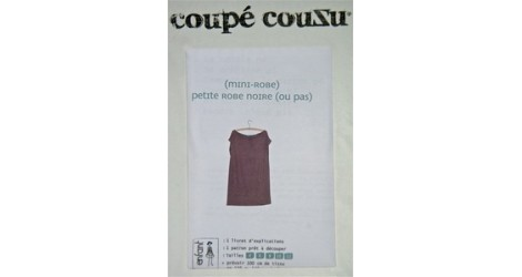 Petite robe noire dans Coupé Couzu par Couture et Cie
