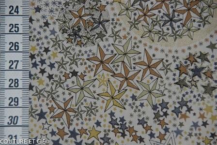 Tissu Liberty Adelajda brun