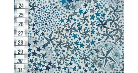 Tissu Liberty Adelajda bleu, x10cm dans Tissus LIBERTY OF LONDON par Couture et Cie