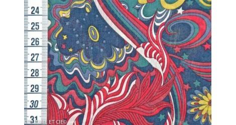 Liberty Amelia Star bleu marine et rouge dans Tissus LIBERTY OF LONDON par Couture et Cie