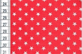 Tissu Etoiles Rouge