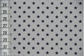 Popeline blanc étoiles bleues, coupon 35*140cm