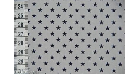 Popeline blanc étoiles bleues, coupon 35*140cm dans FRANCE DUVAL STALLA par Couture et Cie