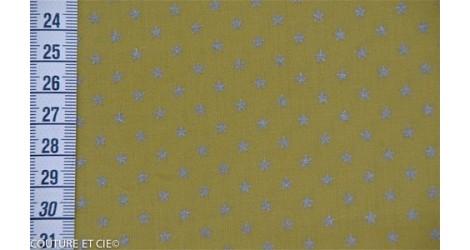 Batiste banane étoiles argent, 45*140cm dans FRANCE DUVAL STALLA par Couture et Cie