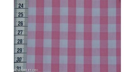 Vichy grands carreaux rose dans Popelines par Couture et Cie