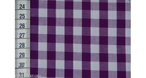 Vichy grands carreaux violet dans Tissus Carreaux par Couture et Cie