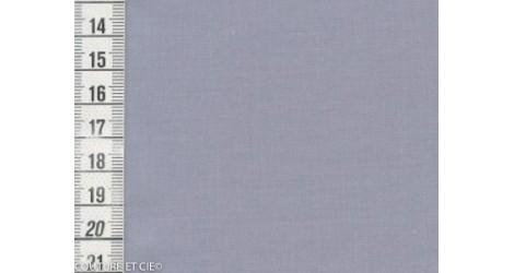 Popeline Fil à Fil bleu gris dans Tissus unis par Couture et Cie