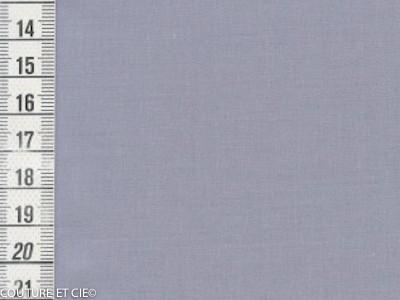 Popeline Fil à Fil bleu gris