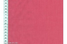Popeline Fil à Fil rose corail