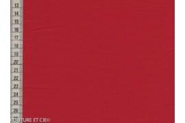 Popeline Fil à Fil rouge foncé
