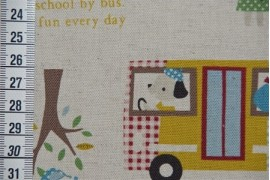 Tissu Kokka Ramassage scolaire