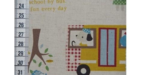 Tissu Kokka Ramassage scolaire dans TISSUS JAPONAIS par Couture et Cie