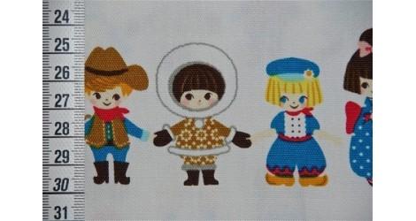 Tissu Kokka Farandole, coupon 90*110cm dans TISSUS JAPONAIS par Couture et Cie