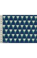 Tissu Kokka Stamped triangles bleus