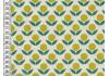Tissu Kokka Stamped fleurs jaunes, 25*110cm dans TISSUS JAPONAIS par Couture et Cie